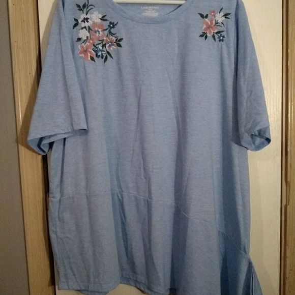 Lane Bryant Tops - Embroidered flower top